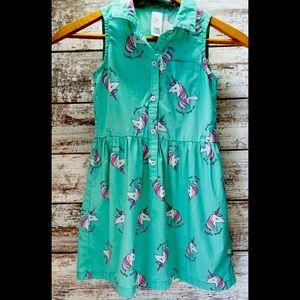 Carter's 50's style unicorn dress